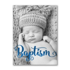 Inspiring Stripes - Photo Baptism Invitation