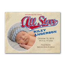 Little All Star - Photo Birth Announcement