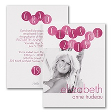 Mod Dots - Photo Graduation Invitation