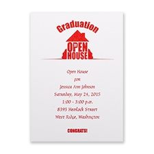 Graduation Open House Invitation