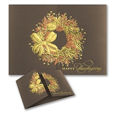 Radiant Wreath - Thanksgiving Card