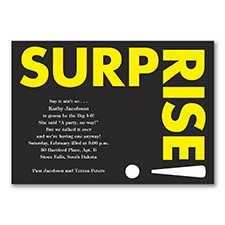 Surprise Me in Yellow - Invitation