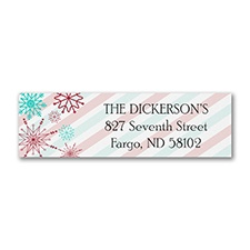 Vintage Snowflakes - Address Label